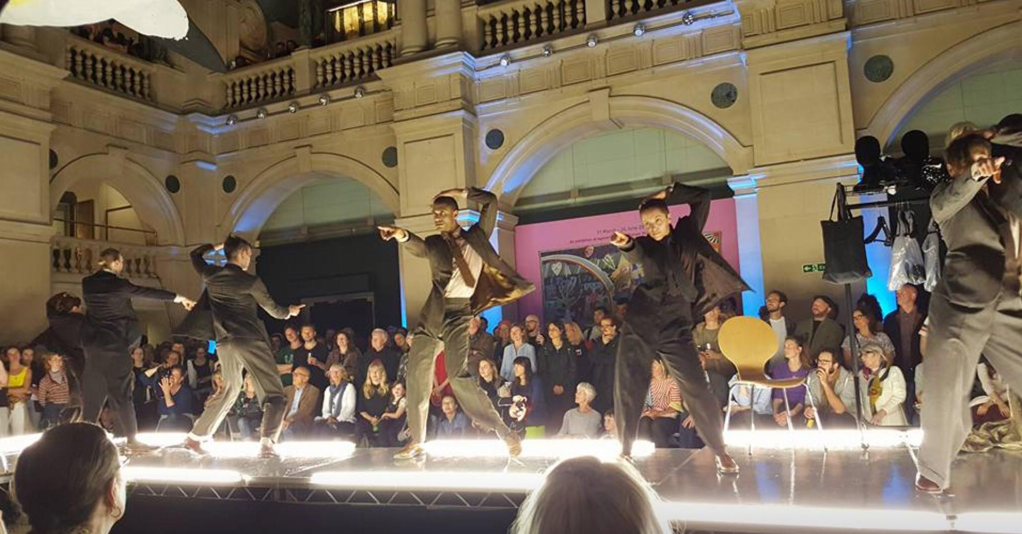 Lea Andereson's 'Elvis Legs' Photo: Anne Pethers Five dancers on an illuminated catwalk perform at Bristol Museum and Art Gallery